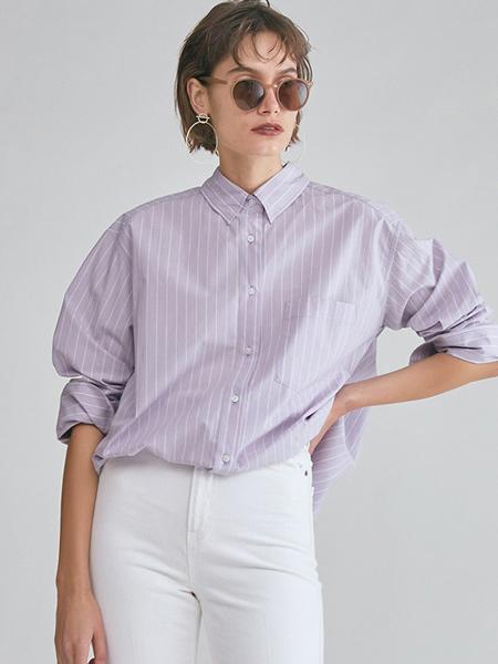 milaowen女装品牌2020春夏时尚条纹衬衫