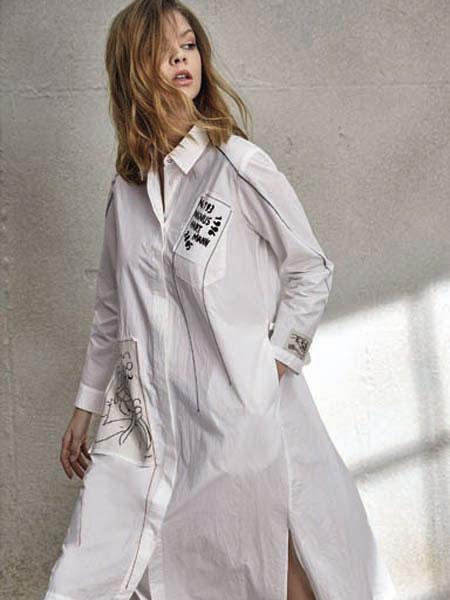 南耳女装品牌2020春夏衬衫连衣裙