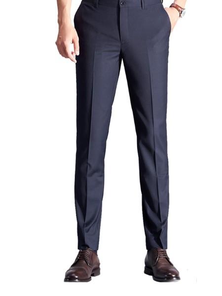 西装裤男直筒修身上班青年休闲职业正装裤子