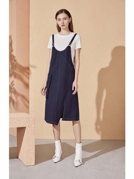 你即永恒女装品牌2020春夏背带式连衣裙