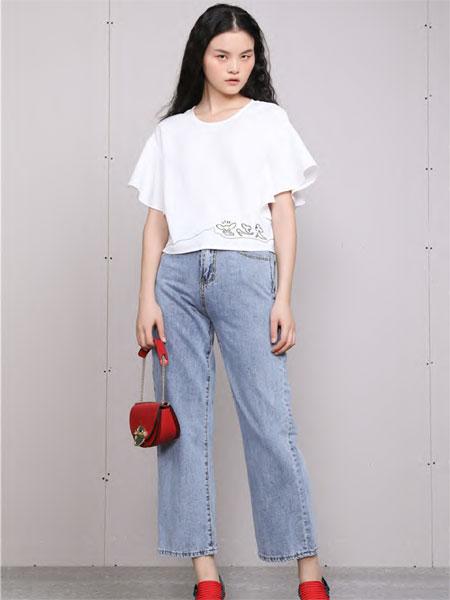 梵凯女装品牌2020春夏雪纺喇叭袖短袖