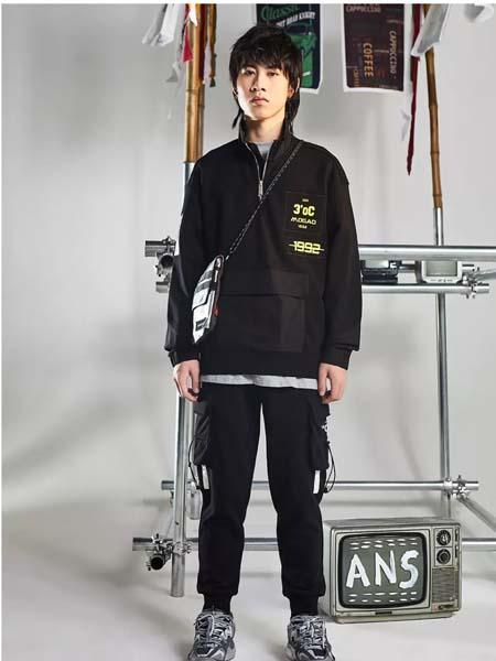 摩高男装品牌2020春夏黑色卫衣