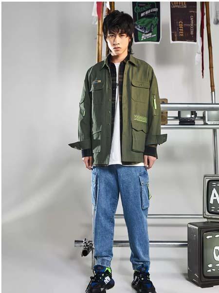 摩高男装品牌2020春夏青色外套