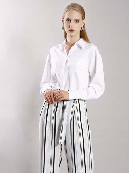 埃沃定制女装品牌2020春夏白色衬衫