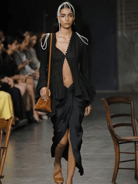 Khaite国际品牌品牌蕾丝花边衬衫