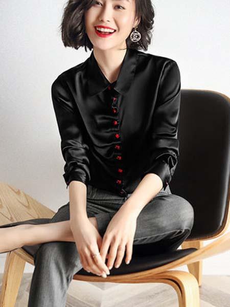 隆缘裳女装品牌2020春夏真丝衬衫