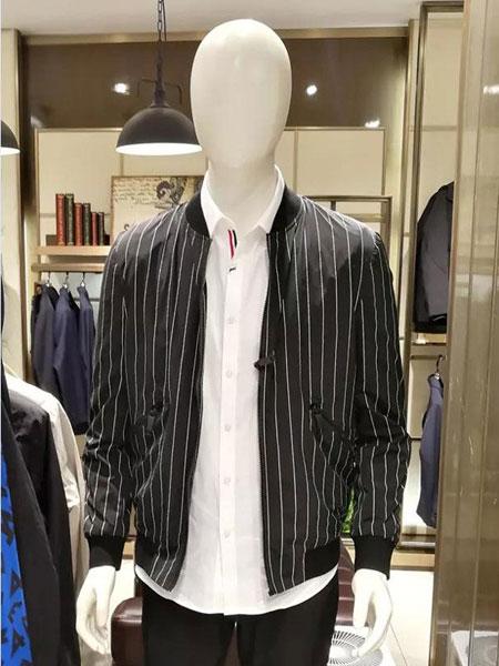 非莱FEELRWAER男装品牌2020春夏条纹衬衫