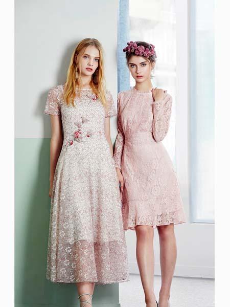 粉红玛莉 PinkMary女装品牌2020春夏网纱连衣裙