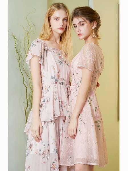 粉红玛莉 PinkMary女装品牌2020春夏碎花连你一起