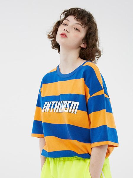 bccd女装品牌2020春夏纯棉条纹短袖