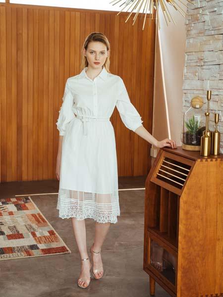 木�z�Z女�b品牌2020春夏白色�B衣裙