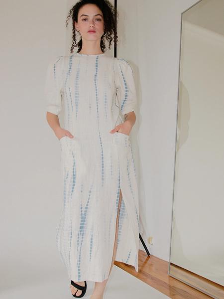 Ajaie Alaie国际品牌2020春夏时尚条纹裙子