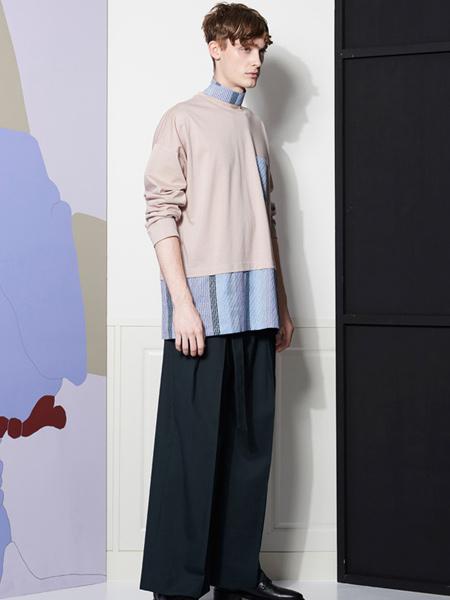 LIBERUM国际品牌2020春夏个性假两件卫衣