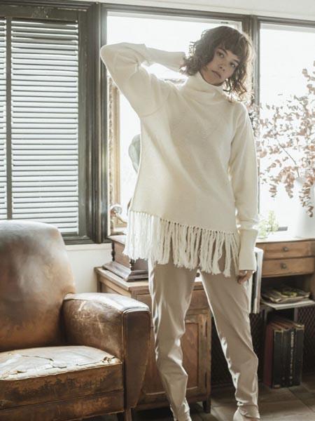 THURIUM国际品牌流苏针织毛衣