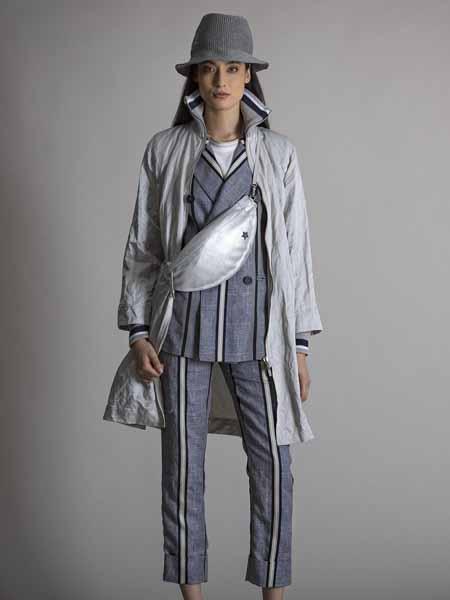 LORENA ANTONIAZZI国际品牌棉麻宽松外套