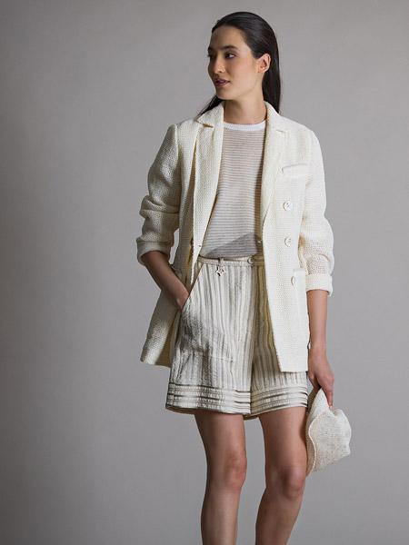 LORENA ANTONIAZZI国际品牌纯色西装外套