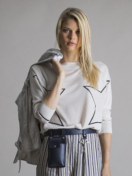 LORENA ANTONIAZZI国际品牌印花纯棉卫衣