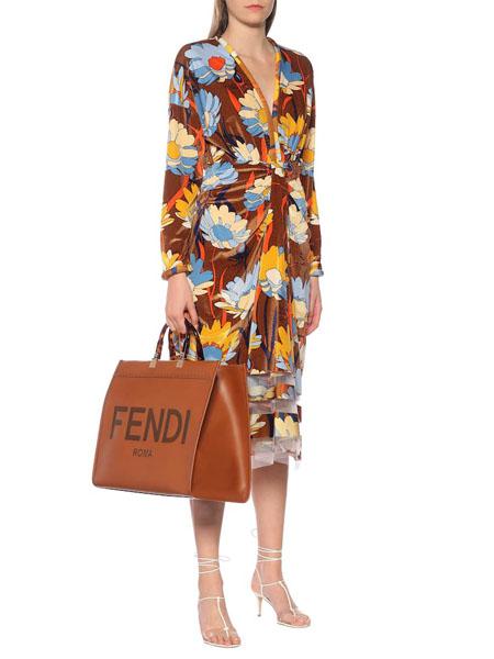 Fendi芬迪国际品牌品牌花色度假风裙子