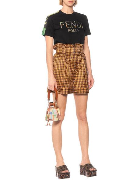 Fendi芬迪国际品牌品牌印花纯棉T恤