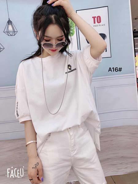 ��外女�b品牌2020春夏白色T恤