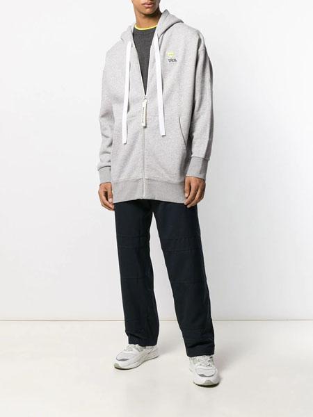 A LeFRUDE E国际品牌长款拉链款卫衣