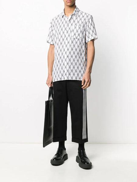A LeFRUDE E国际品牌格子短袖