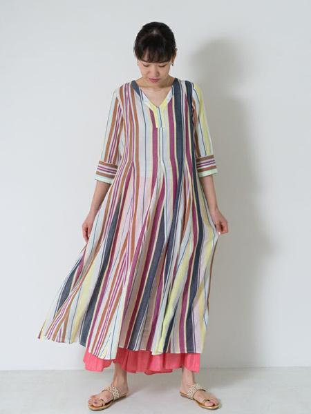 nequittezpas国际品牌宽松大码雪纺连衣裙