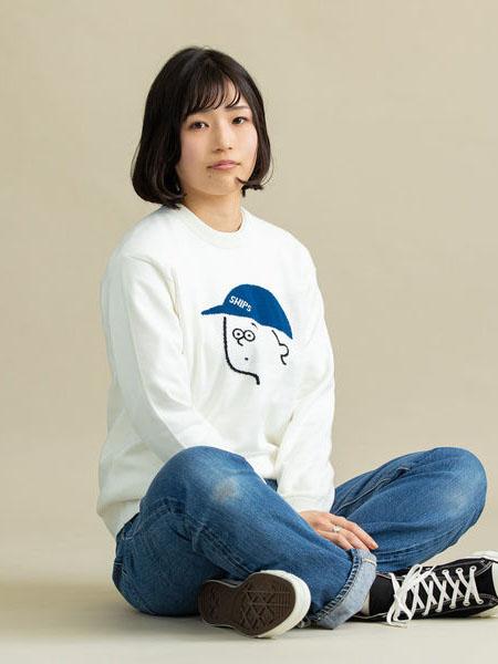 SHIPS国际品牌品牌印花圆领卫衣