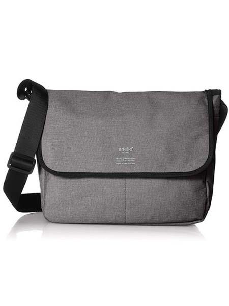 anello箱包品牌2020春夏灰色日本潮流时尚高密度木纹涤纶单肩斜挎包