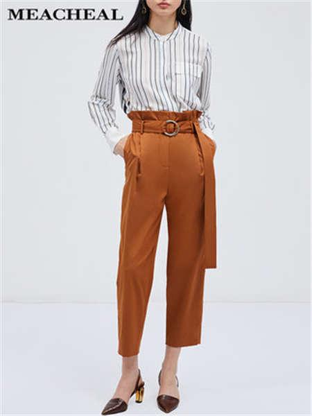 米茜尔女装品牌彩38平台2020春夏条纹衬衫修身