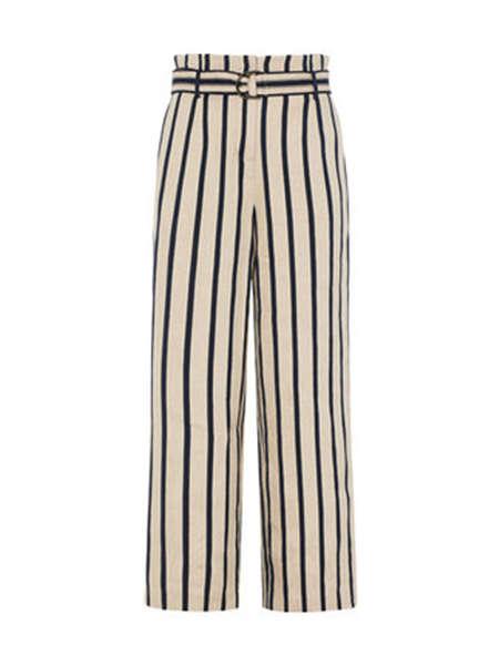 米茜尔女装品牌彩38平台2020春夏条纹直筒裤