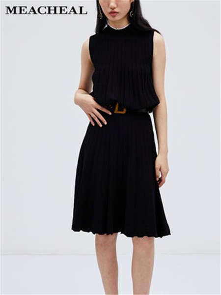 米茜尔女装品牌2020春夏皮带收腰连衣裙