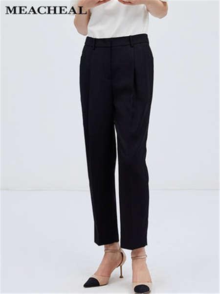 米茜尔女装品牌2020春夏修身九分裤黑色