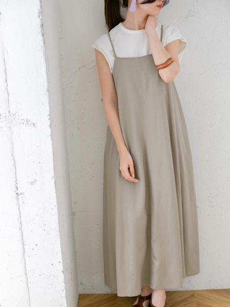 Kloset国际品牌品牌宽松雪纺吊带裙