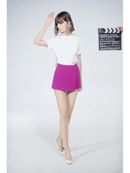 Victoria Wang国际品牌修身纯棉短袖