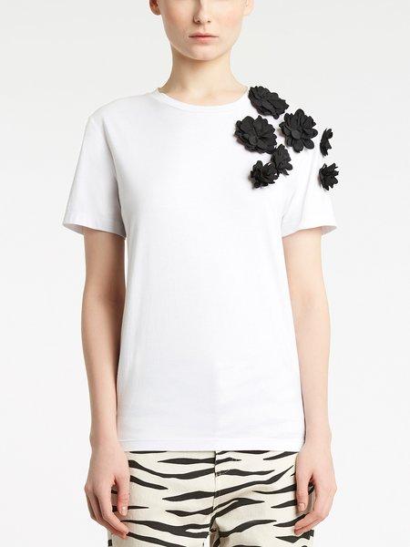 Blumarine蓝色情人国际品牌花色图案短袖