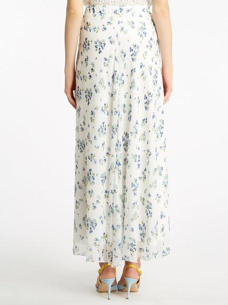 Blumarine蓝色情人国际品牌雪纺碎花半身裙