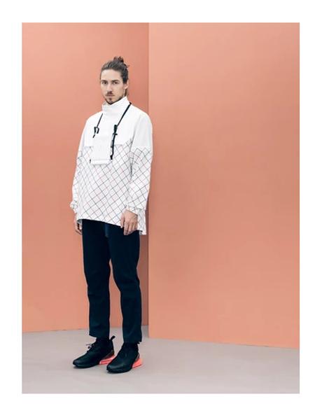 Wisdom国际品牌白色网格夹克
