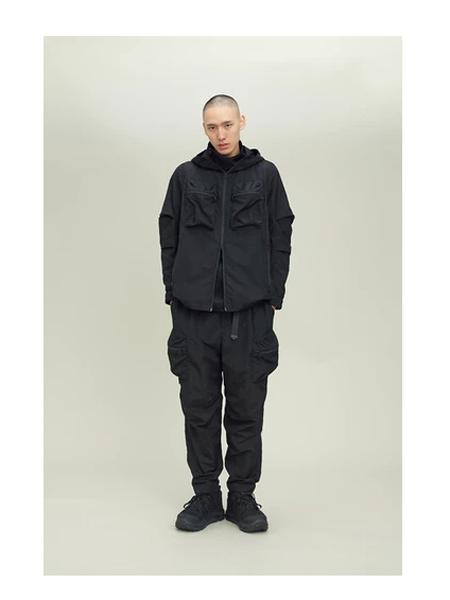 Wisdom国际品牌品牌黑色宽松飞行夹克