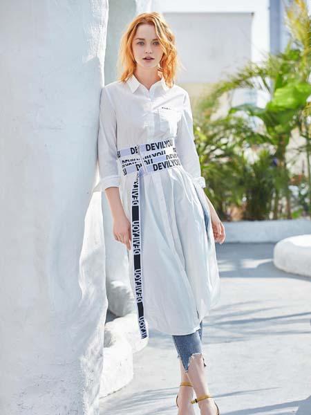 戈蔓婷女装品牌2020春夏腰带连衣裙