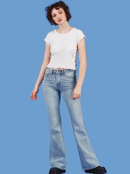 unif国际品牌品牌复古气质喇叭裤