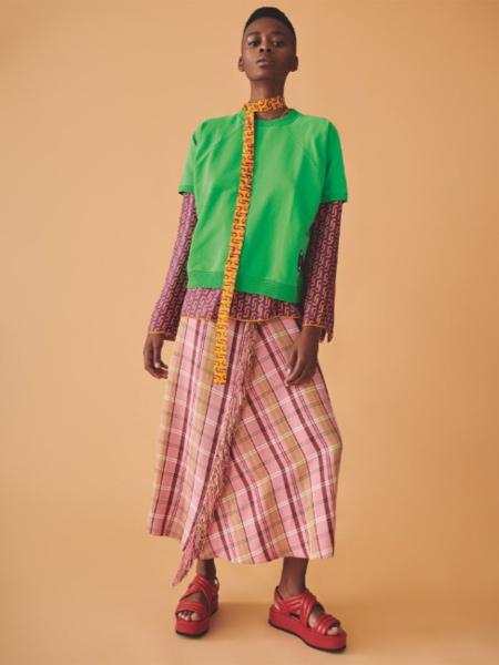 Jucca国际品牌纯棉假两件短袖