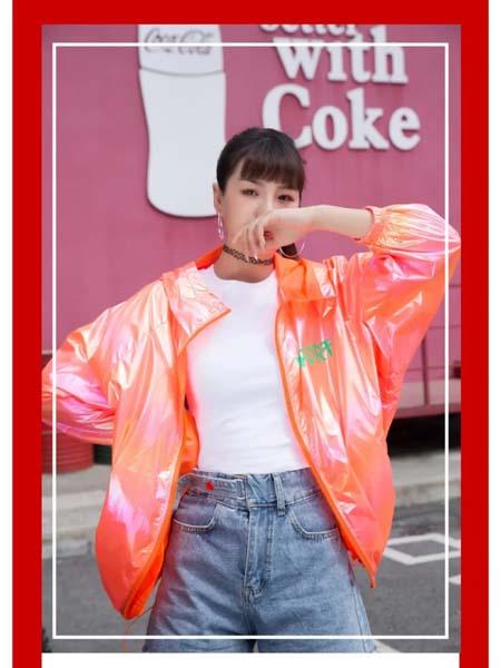 二号街角女装品牌2020春夏靓女橙色外套防晒衣