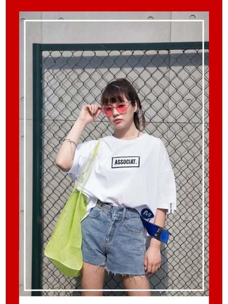 二号街角女装品牌2020春夏白T恤灰色牛仔裤