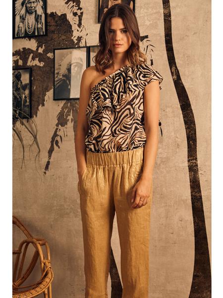 Diega国际品牌时尚豹纹衬衫