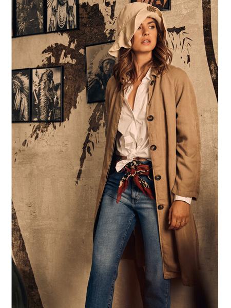 Diega国际品牌时尚知性风衣外套