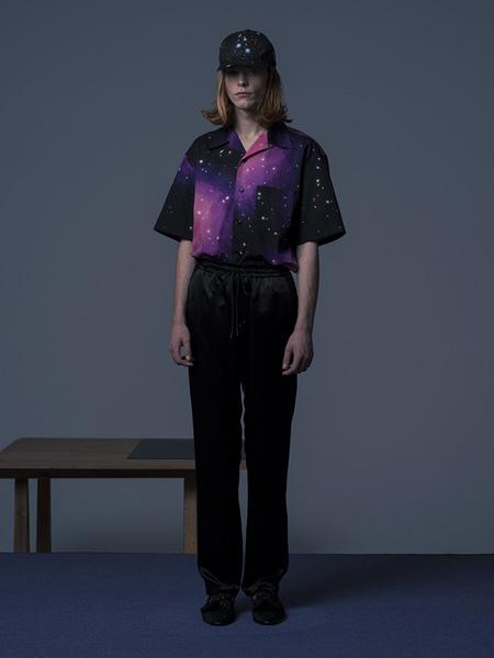 NEON SIGN国际品牌品牌梦幻星空衬衫短袖