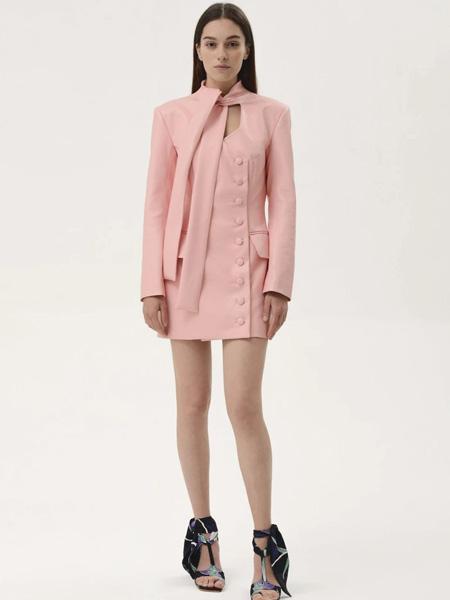 Materiel国际品牌2020春夏时尚不规则西装裙