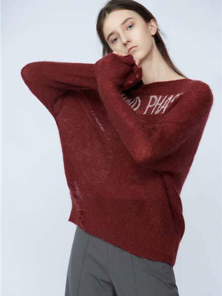 未知未觉女装品牌2020春夏红色针织毛衣