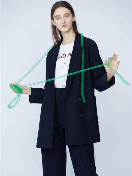 未知未觉女装品牌2020春夏藏蓝色西装套装商务装